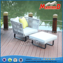 Aluminum Frame Weaving Belt Upholstered Sofa