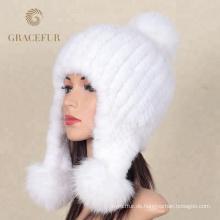 Neue kommende reine weiße Frauen warme Wollmützen