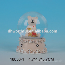 Lovely bear shaped crystal snow globe water ball