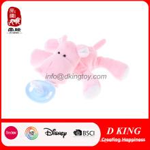 Venda quente Crianças Cuidados Com o Bebê Chupeta Clipe De Pelúcia Brinquedo Animal