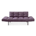 Convertible Sleeper Couch Purple Futon Sofa Bed