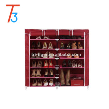 Linha dupla seis camadas de grande capacidade de armazenamento sapatos gabinete