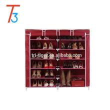 Двухрядный шестислойный шкаф для обуви большой емкости