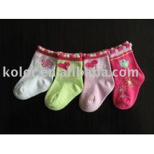 Meias de algodão bebê