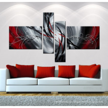 Modern Canvas Abstract Painting with 100% Handpainted