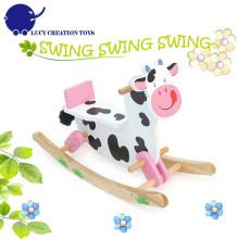 Klassische Fahrt auf Tiere Spielzeug Kuh Baby Schaukelpferd