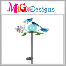 Adorable Blue Bird Solar Garden Lights Metal Stake