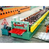 Color Plate / Galvanized Sheet Roof Panel Roll Forming Mach
