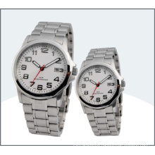 Stainless Steel Lover Watch, Quartz Couple Watches (15169)