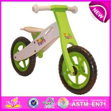 Stock! ! ! ! Jouet en bois de bicyclette de 2014 stock pour des enfants, stock Jouet en bois de bicyclette pour des enfants, équilibrage en bois de bicyclette réglé pour l'usine de bébé W16c091