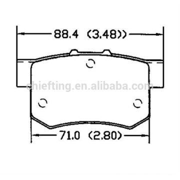 D365 43022-SG0-G01 for Rover MG carbon fiber brake pads