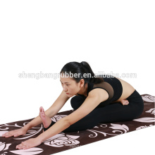 2018 New style suede surface Ultra Absorbent Microfiber natural tree print rubber yoga mat factory price