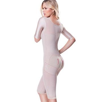 High quality women long sleeve plus size bodysuits girdle body shaper with bra