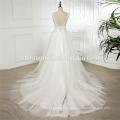 2018 preço de fábrica por atacado Lace Apliques de decote em v profundo vestido de noiva sem mangas suzhou