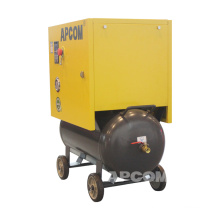 APCOM New conformation single phase rotary screw air compressor 4 kw 5 hp 0.5m3/min 18 cfcm 8bar