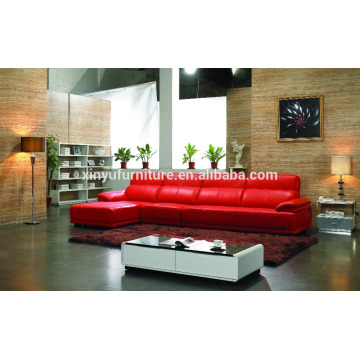 Red leather living room sofa set KW332