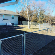 Malla de eslabones de PVC / galvanizado como cerca de construcción