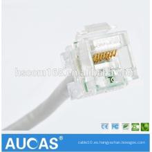 Color transparente Cat5e Keystone Jack UTP Cable de conexión de cable Jack RJ45 Cat5e