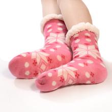 trendy women clothing winter cute pink socks custom crew socks thick slouch socks for women