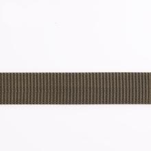Sangle élastique en polyester gris / nylon / coton avec extrémités