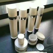 Acrylic pearl white cosmetic white pump lotion bottle cream jar cream bottle