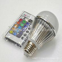 Offre fabricant avec CE RoHS E27 100-240v 5W rgb ampoule avec télécommande