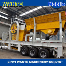 High production tire type mobile crushing & screening plant