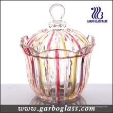 Tarro de vidrio decorativo (GB1808H / P)