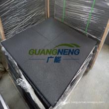1000*1000*50mm Black Color 50mm Thickness Plain Surface Gym Rubber Tile