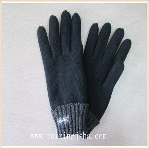 Men Thinsulate Lining Knitted Winter Gloves