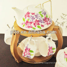 P&T porcelain factory flower design coffee set, tea set