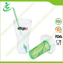 20 Oz Single-Wall Plastic Straw Cup with Infuser (IB-A4)