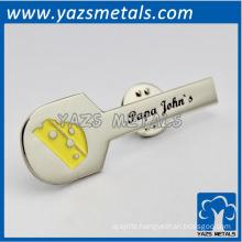 custom engraved guitar badge lapel pin