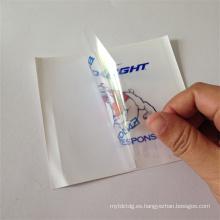 personalizado troquelado transparente adhesivo de pvc