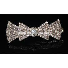 2015 estilo coreano Bow Girls Fashion Rhinestone Hairgrip accesorio de cristal del pelo