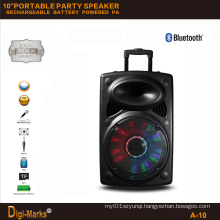 10′′ Multimedia DJ Outdoor Wireless Karaoke Trolley Bluetooth Active Speaker