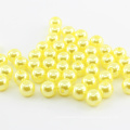 Wholesale more colors round craft loose abs faux pearl plastic beads for dress bags shoes nail art garment decoration