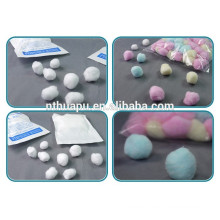 Hot sales surgical absorbent colored cotton ball