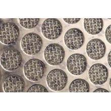 Treillis métallique fritté multicouches perforé