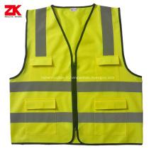 ANSI / ISEA 107 gilet de sécurité réfléchissant à poches multiples