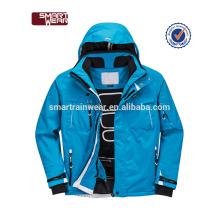 Homem impermeável acolchoado ativo leve jaqueta de esqui