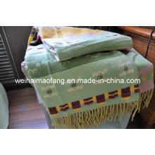 Gemischte Merino Wolle/Viskose werfen (NMQ-WV001)