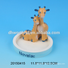 Cute double giraffes figurine for home decoration,polyresin office ornaments for sale