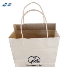 Bolsa de papel kraft marrón de alta calidad para alimentos