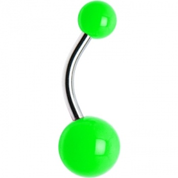 Green Neon Belly Ring