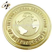 Metal hecho a medida barato al por mayor que sella las monedas del recuerdo de la tierra del oro