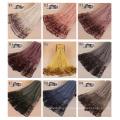 TINGYU Proveedor Al Por Mayor de Color Liso de Encaje de Algodón Musulmanes Hijab