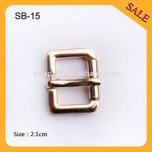 SB15 Custom Gold color flat pin bag buckle ,metal buckle for handbags
