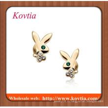 Купить серьги онлайн милый сплав кролика шпильки серьги штрафа ювелирные изделия