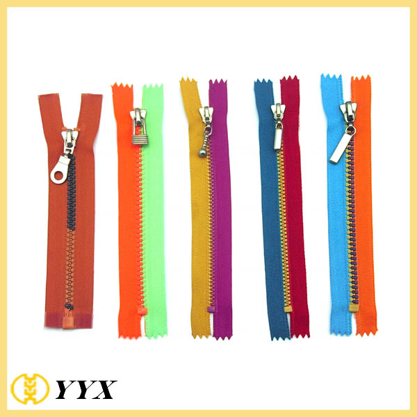 mix colors zipper